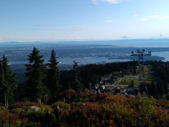 Vancouver, von sehr hoch oben, Grouse Mountain, Vancouvers Hausberg, Skigebiet