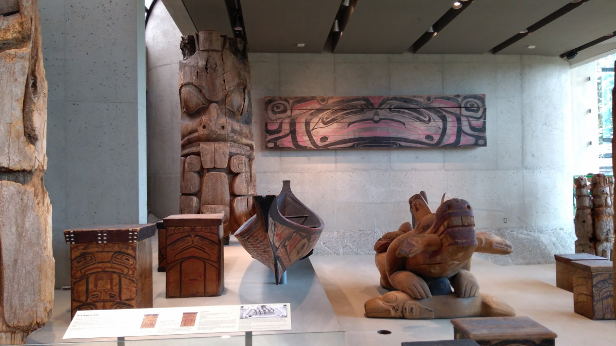 Vancouver, die wenigen Reste der First Nation (Indianer)