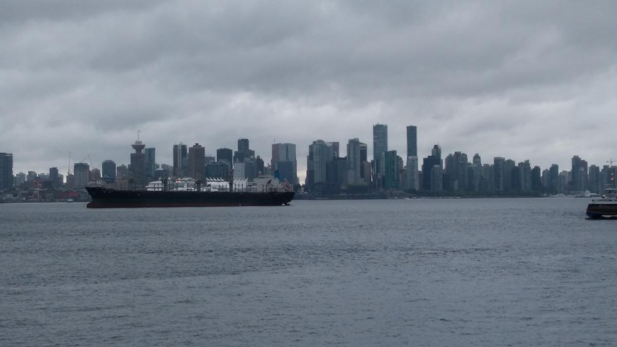 Vancouver, leider etwas verregnet...