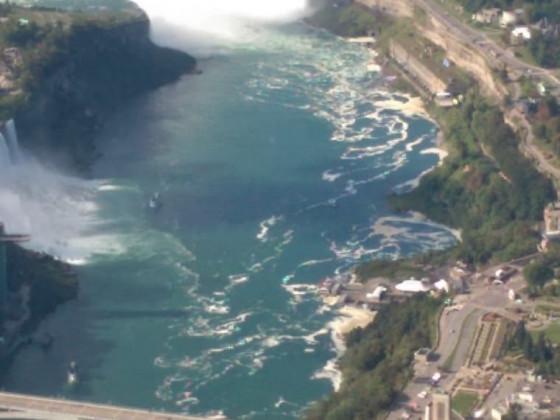 Niagara Fälle aus dem Hubschrauber