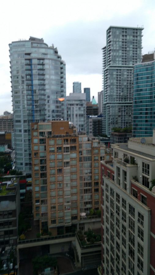 Vancouver, Blick aus Hotelzimmer