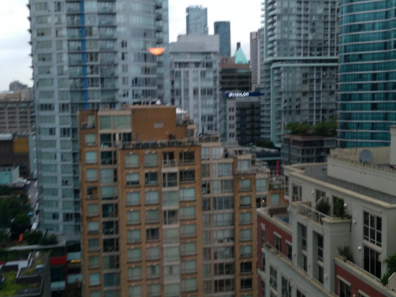 Vancouver, Blick aus Hotelzimmer