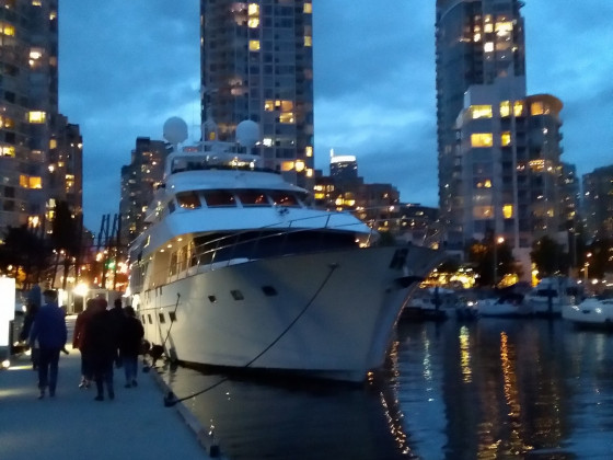 Vancouver, was so in der Marina dümpelt..