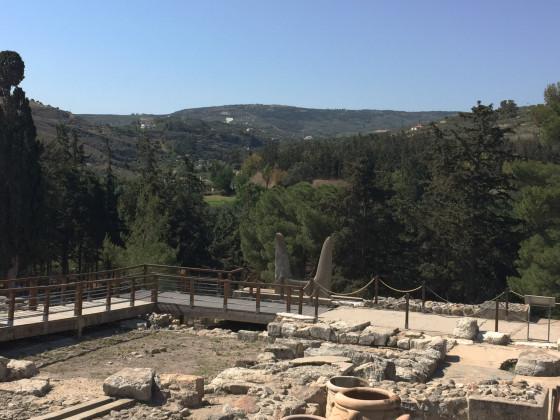 Kreta - Palast von Knossos: Blick in die Landschaft